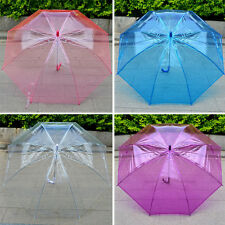 Women Transparent umbrella Long-handled umbrella Thicken  dance props gift