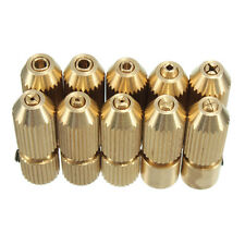 Gold 2.3mm Electric Motor Shaft Brass Drill Chuck Clamp Fixture Dia 0.7mm-3.2mm