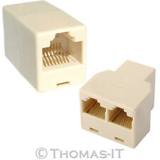 3 Way RJ45 Ethernet Network Cable Splitter RJ45 Lead Extension Coupler Joiner UK