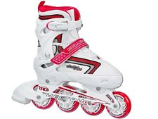 NEW!ROLLER DERBY CHEETAH S4 ADJUSTABLE INLINE SKATES GIRLS ROLLERBLADES 12-2 3-6