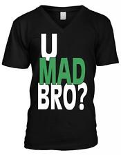 You U Mad Bro Sayings Humor Funny Joke Troll Meme Mens V-neck T-shirt