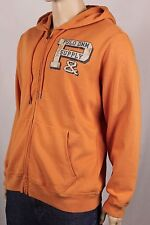 Denim & Supply Ralph Lauren Orange Full Zip Hoodie Sweatshirt NWT