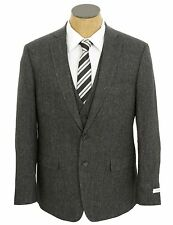 NEW Mens Calvin Klein Charcoal Gray Extreme Slim Fit 3 Piece Wool Blend Suit