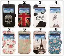 Ultra thin Window View Flip Leather Case Cover For Sony LG Huawei HTC Google 6
