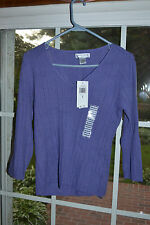Sutton Studio NEW Light V-Neck Long Sleeve Knit Top Shirt w Tags 4 Colors Avail.