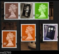 2013 DOCTOR WHO Single M12L MPIL Machins and Tardis Stamps from PSB DY6