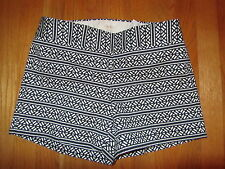 "NWT J Crew 4""  Optic Striped Shorts Navy White #a6965 Spring 2014"
