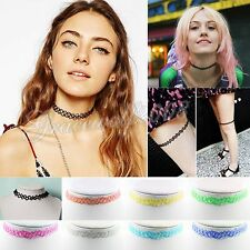 Colorful Vintage Elastic Stretch Tattoo Choker Necklace Pendants Jewelry Women