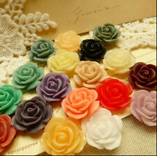 Wholesale 15/30Pcs Resin Flowers Cameos Fit Cabochons Settings Flatback 18x18mm