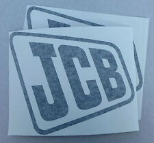 2x JCB logo decal self-adhesive vinyl stickers Black, White, Yellow or Red
