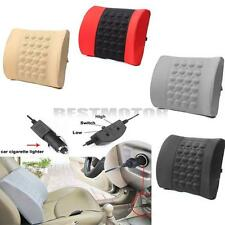 Electrical Massage Lumbar Back Support Cushion Pillow Home Office Car Seat 12V