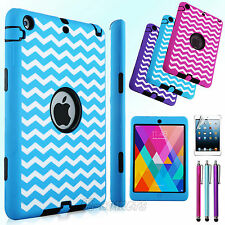 Shockproof Heavy Duty Rubber Hard Case Cover For Apple iPad Mini 1 2 3 Retina