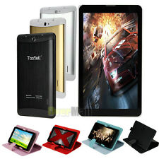 Unlocked GSM 3G phablet 7'' Tablet Android 4.4 Dual SIM Smart Phone Bundle Case