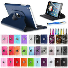 LEATHER 360 DEGREE ROTATING STAND CASE COVER FOR APPLE IPAD MINI WITH WAKE SLEEP