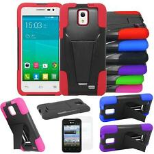 For Straight Talk ALCATEL onetouch POP STAR LTE Case Rugged Cover Stand + Flim