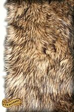 FUR ACCENTS Faux Fur Coyote Pelt Area Rug Rectangle All Sizes