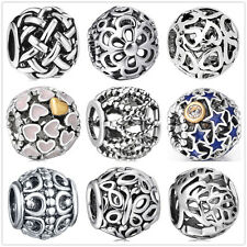European Openwork charm bead For US sterling silver charms bracelet chain bangle