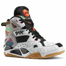 "Reebok Blacktop Battleground ""Tribal"" (WHITE/BLACK/PINK/ORG) Men's Shoes M43284"