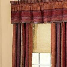 CROSCILL PLATEAU LINED VALANCE CHENILLE RUST GREEN GOLD RED SOUTHWESTERN 88 X 17