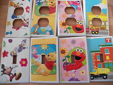 KIDS ROOM - BABY'S ROOM - CUSTOM MADE SWITCHPLATE COVERS - VARIOUS DESIGNS