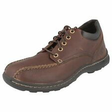 MEN'S TIMBERLAND SHOES BROWN LEATHER - 45564 / EK BIKE TOE OX BRWN