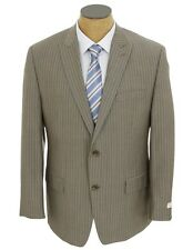 NEW Mens Michael Kors Taupe Stripe Wool Suit