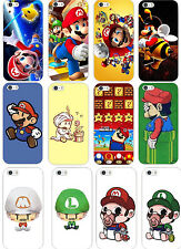 New Cute Cartoon Mario Bros Patterned Hard Case Cover Fits For iphone 5 5S
