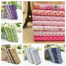 """19.7"""" Assorted 7 Pre-Cut Fat Quarters Bundle Cotton for Quilting Fabric 6 Styles"""