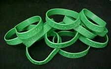 Green IMPERFECT Bracelets 50 Piece Lot Silicone Jelly Wristband Cancer Cause New