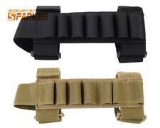 Tactical Airsoft Hunting 1000D Shotgun Shell Ammo Stock Carrier Holder 7 Round