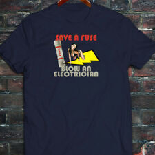 SAVE A FUSE BLOW AN ELECTRICIAN Mens Navy T-Shirt