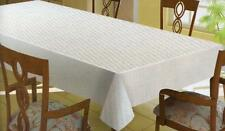 Quilted PEVA Vinyl Dining Table Pad Protector White Flannel Backed Eco Friendly