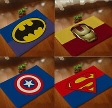 Superheros Bath Foot Mat Batman Ironman Captain America Superman 40x60 cm Soft
