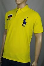 Ralph Lauren Neon Yellow Custom Fit Big Pony Polo Russia Shirt NWT