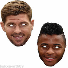 Official Liverpool FC Fancy Dress Character Face Mask - Gerrard, Sterling