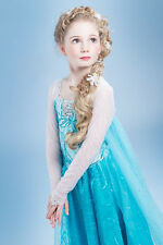 NEW FROZEN DRESS ELSA ANNA PRINCESS DRESS KIDS COSTUME PARTY FANCY SNOW