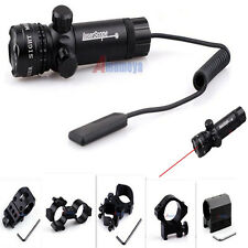 New Tactical Red Dot Laser Mounting Sight Rifle Gun Scope+Remote Switch/Mount US