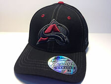 Colorado Avalanche Zephyr Black Element Curved Bill Fitted Hat NHL Baseball Cap