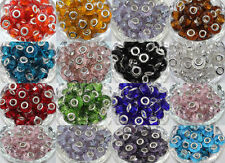 New 5X Glass Spacer Murano Big Hole Lampwork Beads Fit European Charm Bracelet