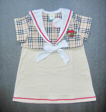BABY GIRL DRESS, Designer Outfit, Top & Dress, Soft Cotton, Ages 0-2 Years Old