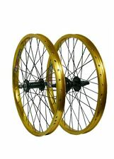 "20"" Savage Front Rear Double Walled BMX Bike Quando Hub Wheels Conversion Kits"