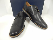 NEW COLE HAAN GRANDSPRINT WING.II C13412 SOFT BLACK LEATHER 4 EYE WINGTIPS