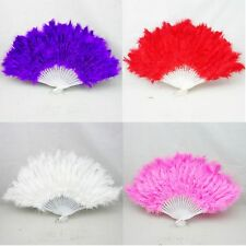 5pc Fluffy Lady Wedding Fancy Dress Costume Dancing Feather Fan 4 color you pick