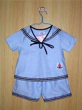 BABY / BOY's SAILOR OUTFIT, Light Blue, Wedding, Christening, Ages 0-6 Years Old