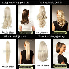 4 Style Ponytail Hair Pieces Straight /Wavy Clip In Hair Extensions