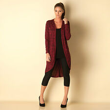 Womens Clubl Knitted Cocoon Cardigan In Berry, Designer Knitwear For Women