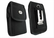 Canvas Carrying Case Cover Pouch Phone Holder Side Metal Clip with Belt loop