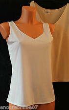 Ex Marks and Spencer Satin Trim Stretch Camisole Vest White or Nude 10-20