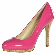 Nine West Women's Selma Cork Heel Pumps-Pink