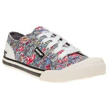 New Womens Rocket Dog Multi Jazzin Brushed Canvas Trainers Lace Up